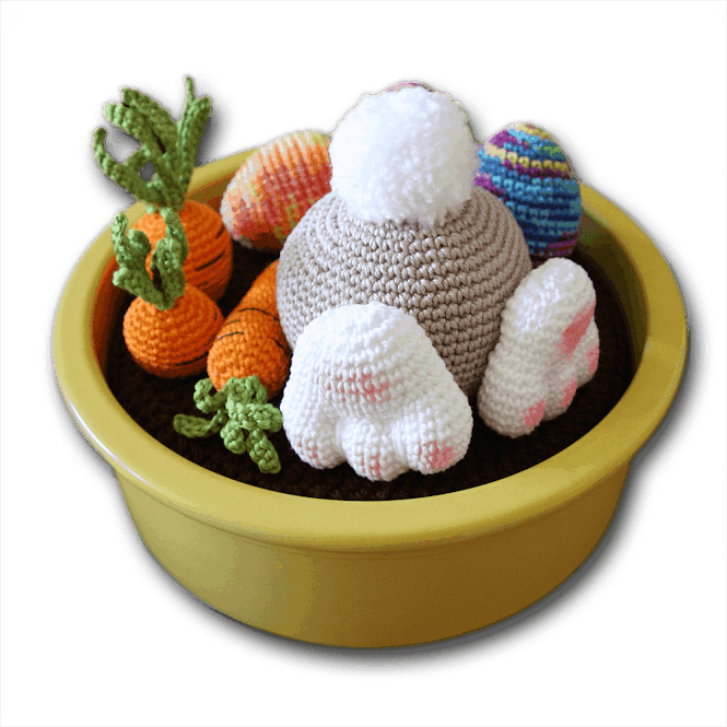 Bunny in the Carrot Garden FREE Crochet Pattern