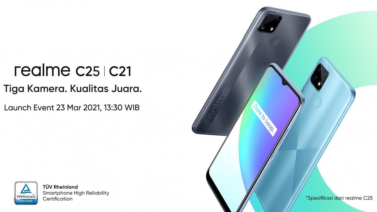 Realme C25 akan hadir pada 23 Maret dengan Helio G70 SoC dan tiga kamera 48MP