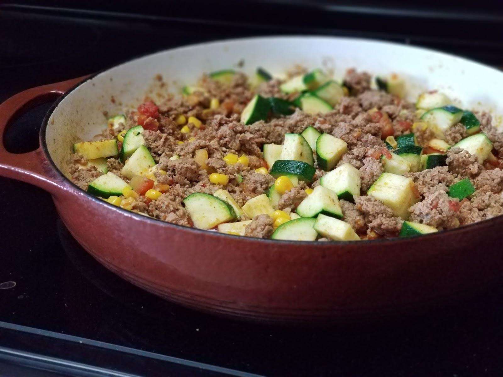 Zucchini and Turkey Skillet