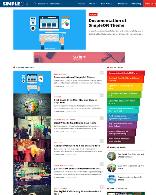 SimpleON - Responsive Blogger Theme for Viral Content and Publishers | Themeindie.com