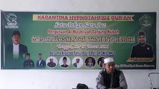 Pimpinan Cabang Al Washliyah Air Putih Membuka Karantina Hypnotahfeidz Qur'an
