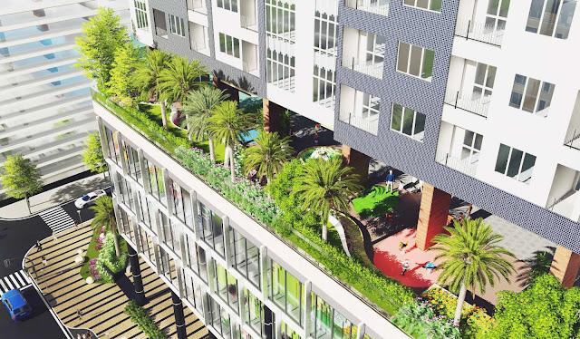 Khuôn viên xanh tại The Golden Palm