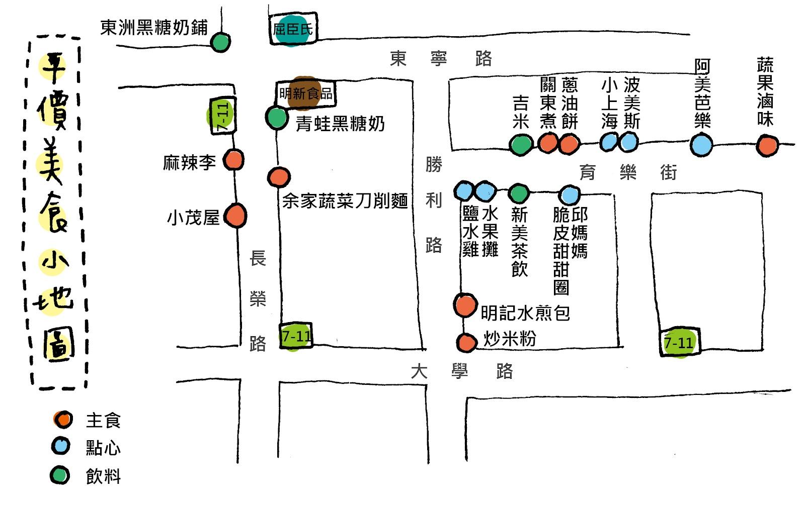 [ 編輯小姐 Yuli 的繪圖日記 ]: 魯比兔帶你吃成大附近平價美食