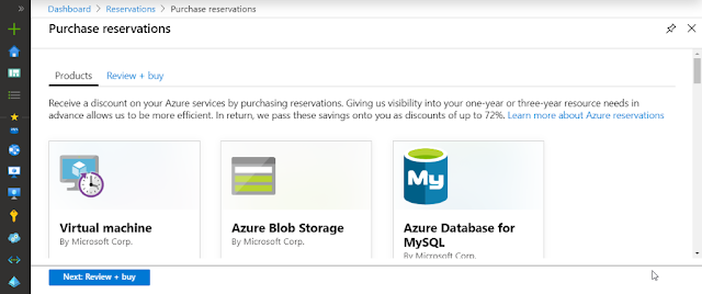 Azure purchase reservation example
