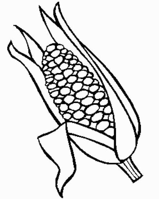 dibujos de maíz para colorear