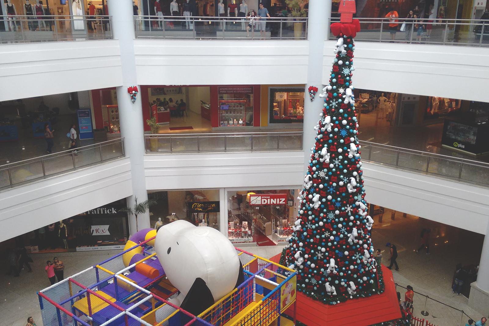 decoração natalina shopping bauru
