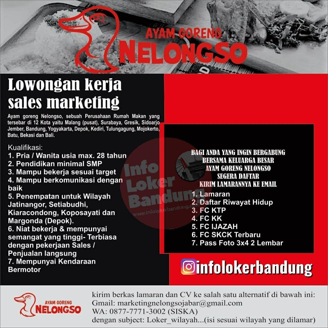 Lowongan Kerja Ayam Goreng Nelongso Bandung Januari 2020