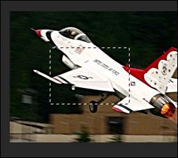 صورة في Photoshop ، مع تحديد أجزاء من الصورة باستخدام أداة Marquee