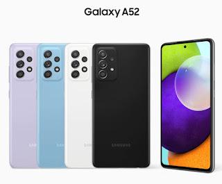 samsung galaxy a52 hp android dengan RAM 8 GB