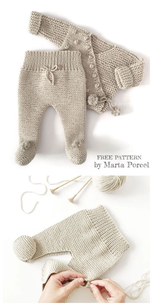 Knitted Baby Legging - Free Pattern & Tutorial