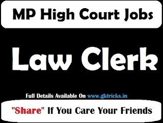 Mp High Court Law Clerk