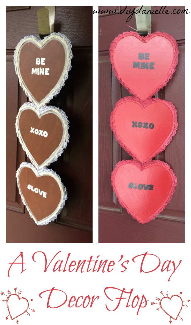 Final product: Door decoration for Valentine's Day