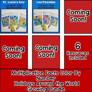 Holidays Around the World Multiplication Bundle
