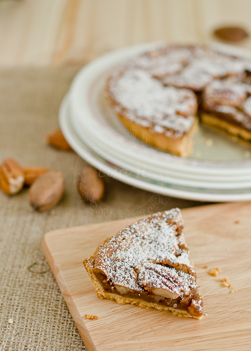 Pecan and Chocolate Tart.
