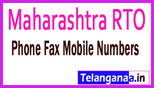 Maharashtra RTO Phone Fax Numbers Eamil Id