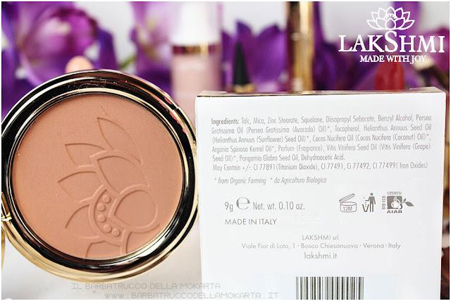 bronzer inci  lakshmi makeup vegan ecobio