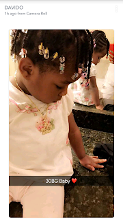"Davido gets a diamond encrusted ""30billion gang"" chain also for his daughter"
