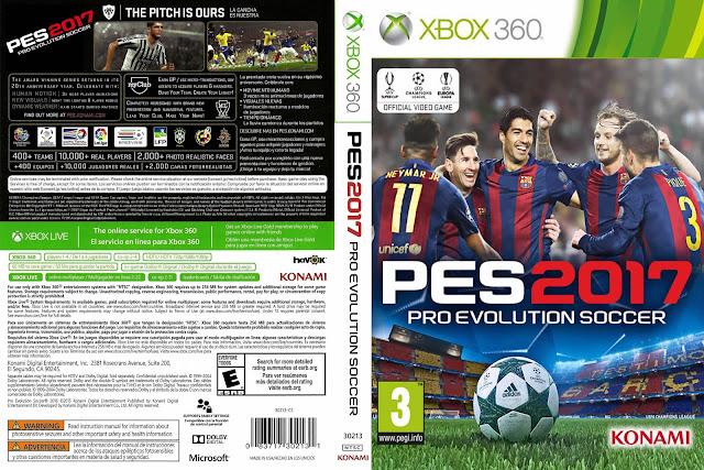 Capa PES 2017 Xbox 360