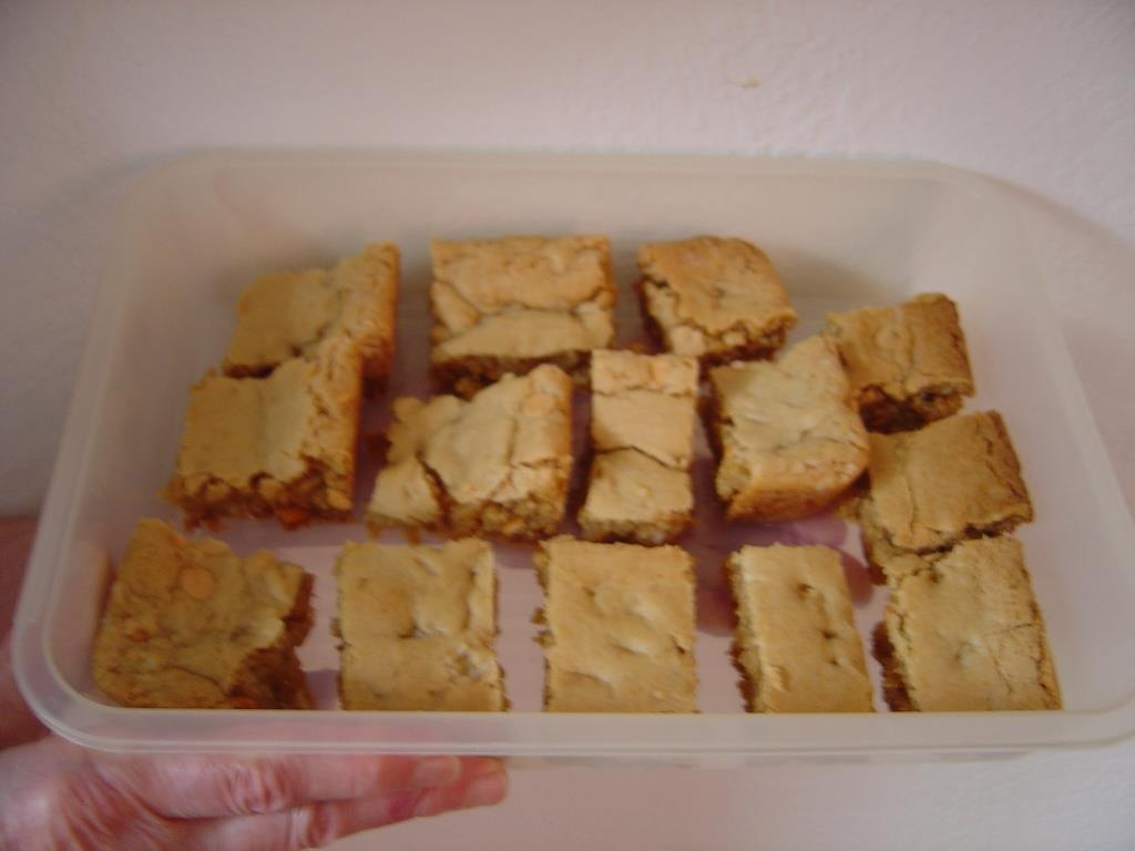 Butterscotch Bars cut in pieces