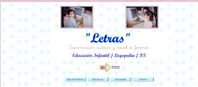 Resultado de imagen de LETRAS DISCRIMINACION AUDITIVA EN. INFANTIL