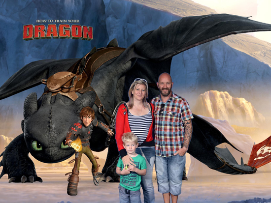 Posing with Toothless.... like you do