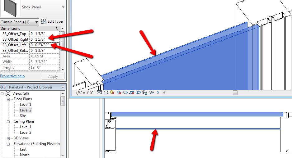 CurtainwallBIM Parametric Shadowbox Panels