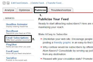 Cara memasang RSS  di Blog dan Menggunakanya
