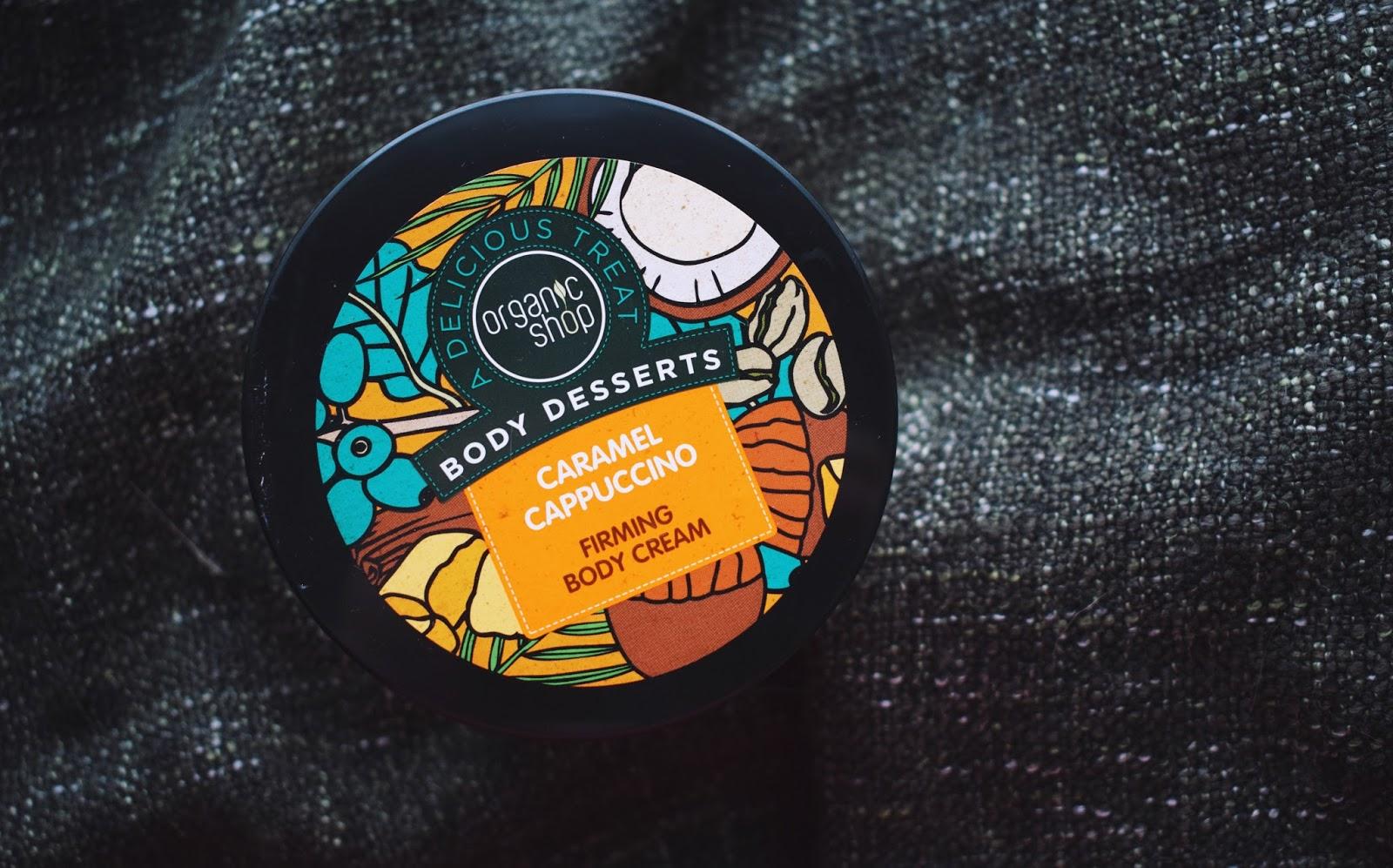 organic shop body desserts caramel cappuccino firming body cream vartalovoide vartalo voide kiinteyttävä