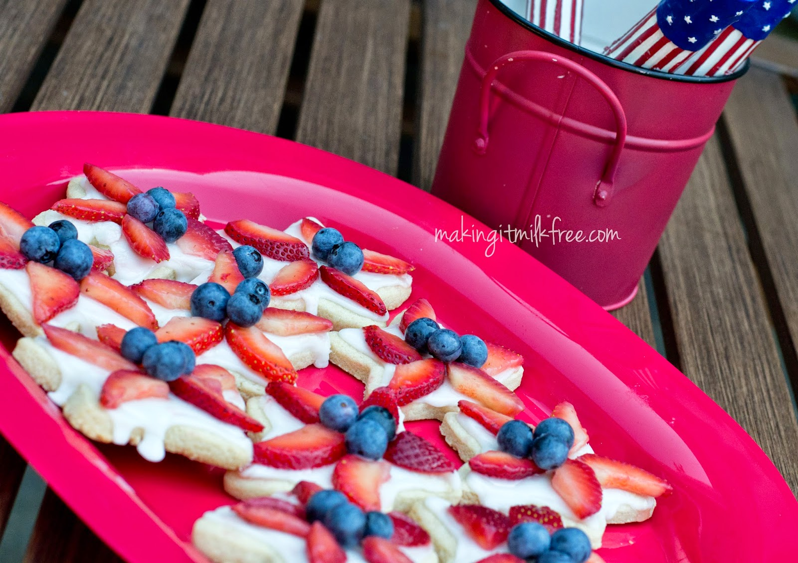#patriotic #sugarcookies #fruit