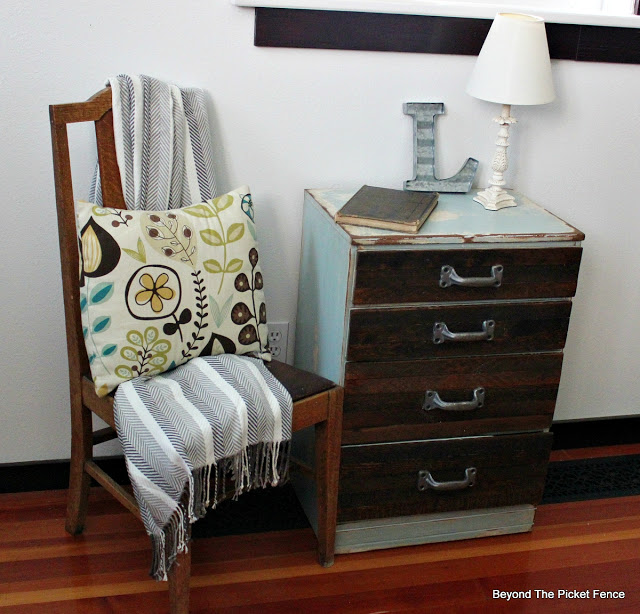 industrial, rustic, chest of drawers, reclaimed, lathe,  http://bec4-beyondthepicketfence.blogspot.com/2015/12/these-are-few-of-my-favorite-things_30.html