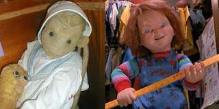Photo de Robert, et photo de Chucky