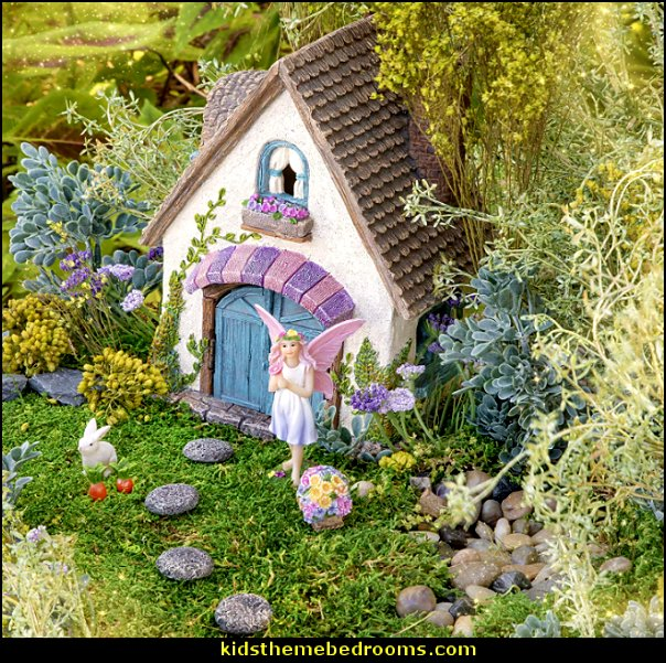 Fairy Garden Accessories Kit - Magical Miniature House fairy village decorations
