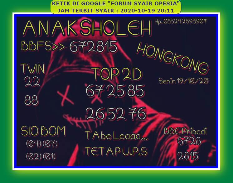 Kode syair Hongkong senin 19 oktober 2020 15