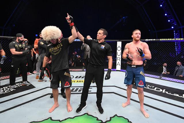 UFC 254 - Khabib Nurmagomedov submits Justin Gaethje