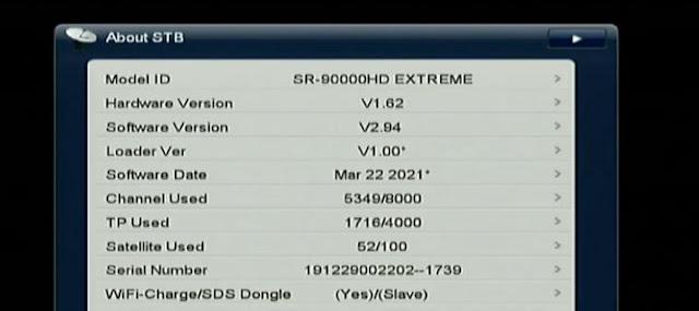 STARSAT SR-90000HD EXTREME NEW SOFTWARE V2.94