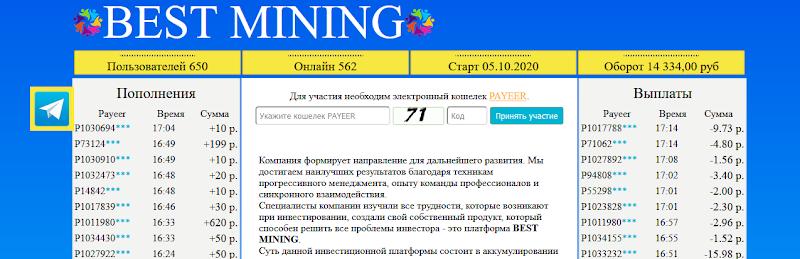 Мошеннический сайт bestmining.vip – Отзывы, развод, платит или лохотрон? Информация