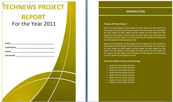 Microsoft word templates project report template for Ms project 2013 report templates