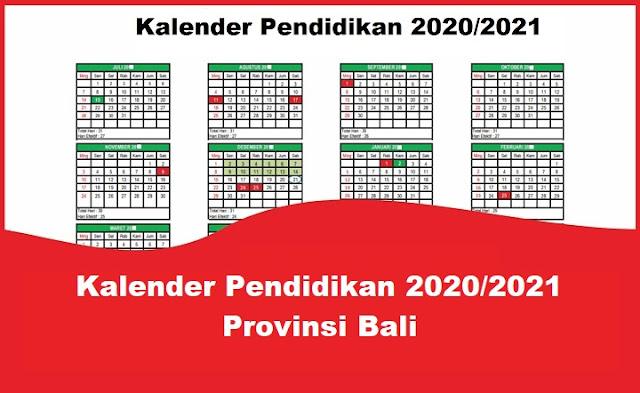 Kalender Pendidikan 2020/2021 Provinsi Bali