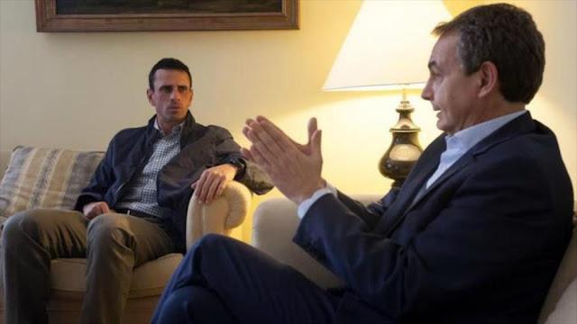 Capriles a Zapatero: ¿Para qué son sus visitas a Venezuela?