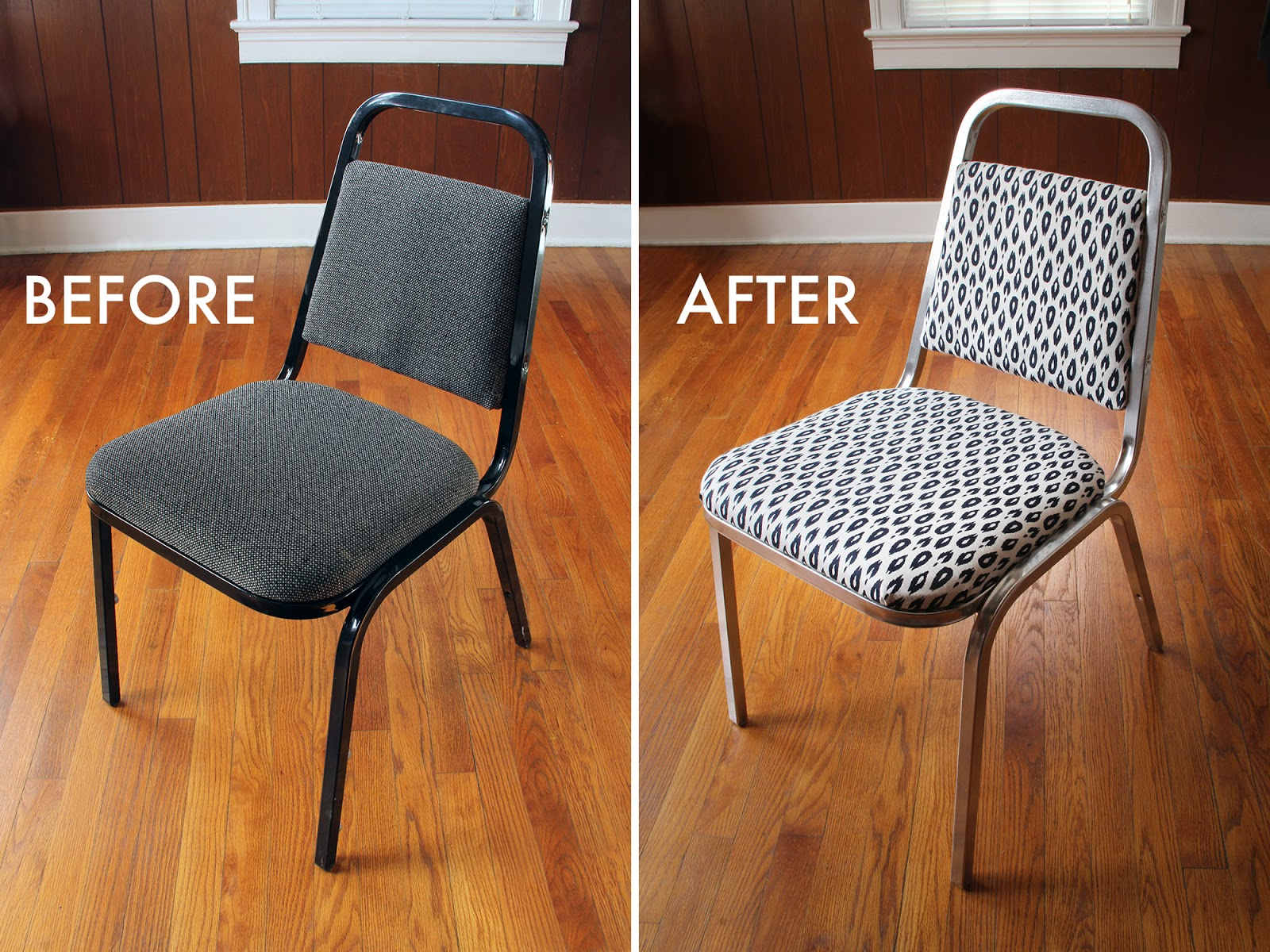 Before & After - Office chair gets new life in a single afternoon