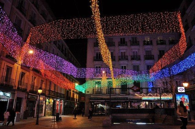 Iluminação nas Ruas em Madri