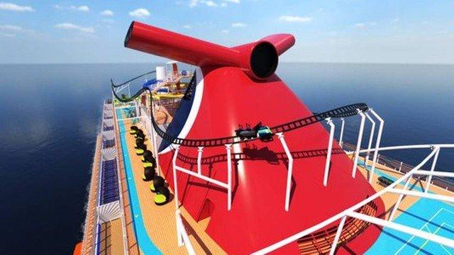 Empresa lançará primeira montanha-russa em navio de cruzeiro