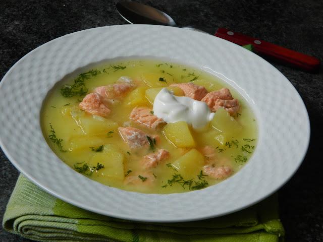 Supa de somon cu cartofi