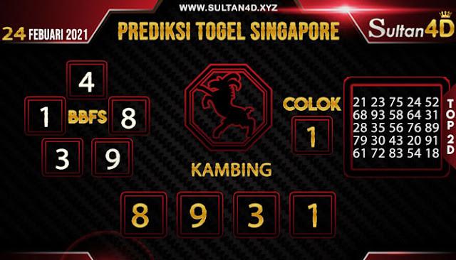PREDIKSI TOGEL SINGAPORE SULTAN4D 24 FEBUARI 2021