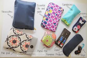 Keeping essential oils in your purse :: OrganizingMadeFun.com