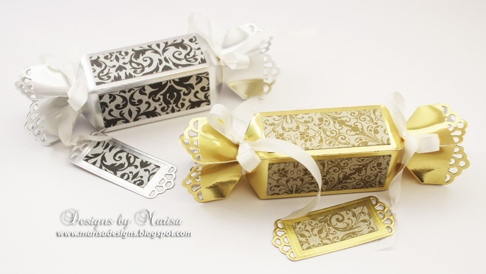Designs by Marisa: Spellbinders Party Favor Boxes for the Holidays