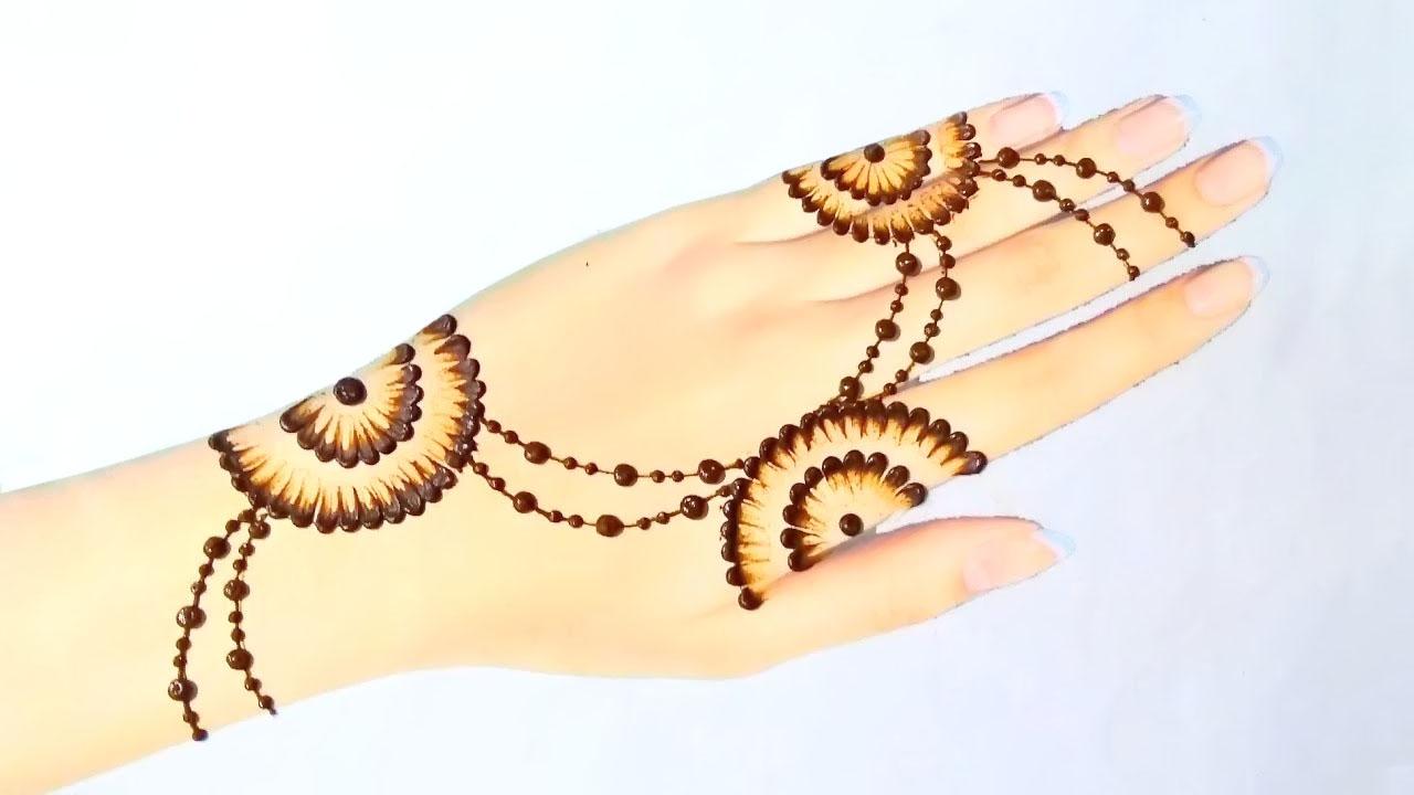 easy henna mehndi design