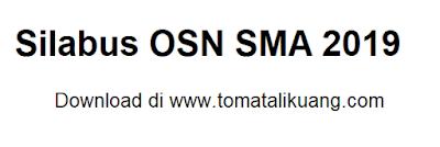 silabus osn sma 2019; silabus osn sma 2018; https://www.tomatalikuang.com/