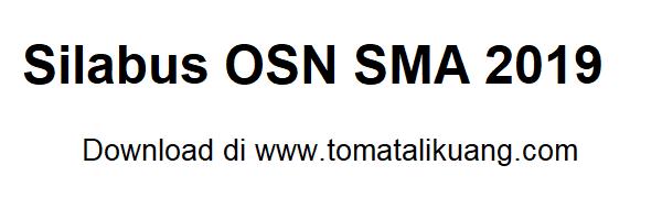Silabus OSN SMA 2019 sama dengan Silabus OSN SMA 2018? Download disini..