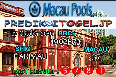 Prediksi Togel Wangasit Macau Pools Rabu